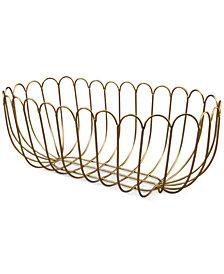 Thirstystone Gold-Finish Wire Bread Basket