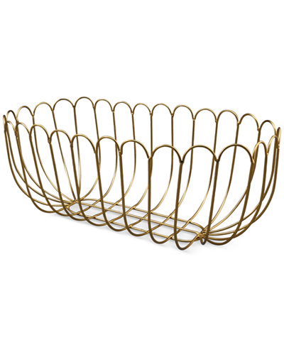 Thirstystone Gold-Finish Wire Bread Basket