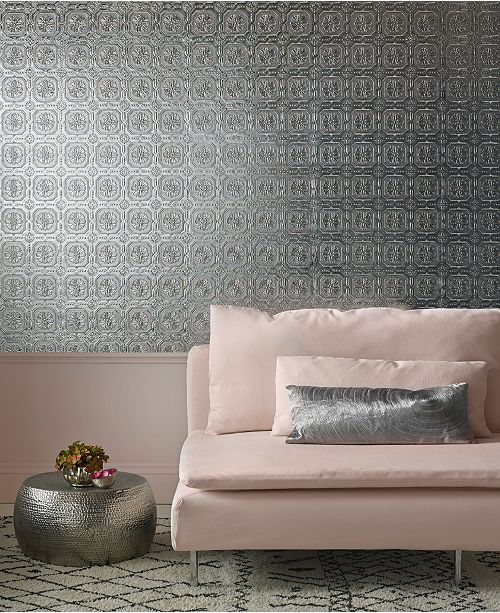 Graham & Brown Metallic Tile Wallpaper