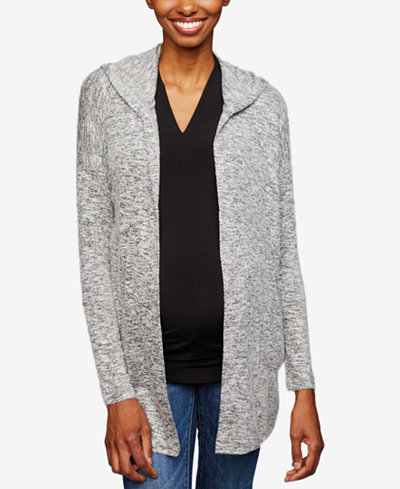 A Pea In The Pod Maternity Hooded Open-Front Cardigan