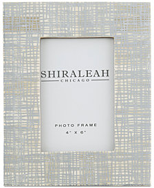 Shiraleah Griggio Silver Foiled 4'' x 6'' Picture Frame