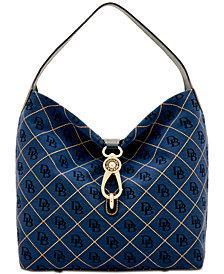 Dooney & Bourke Signature Quilt Logo-Lock Medium Sac Handbag, Created for Macy's