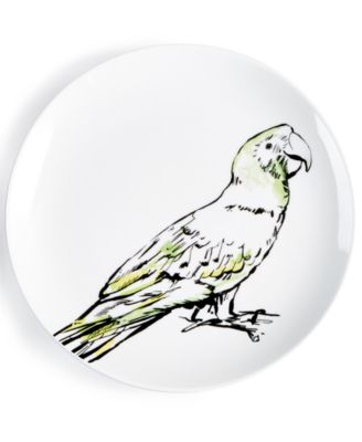 CLOSEOUT! Tropicalia Parrot Salad Plate, Created for Macy's