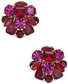 kate spade new york Gold-Tone Multi-Stone Cluster Stud Earrings