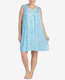 Eileen West Plus Size Lace-Trim Chemise