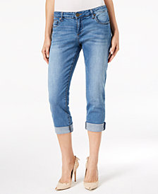 Kut from the Kloth Petite Katy Boyfriend Crop Jeans