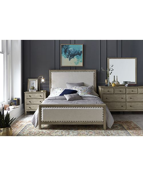 . Parker Upholstered Bedroom Furniture  3 Pc  Set  Queen Bed  Dresser    Nightstand   Created for Macy s