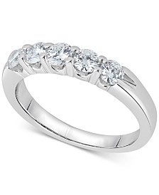 Diamond Five-Stone Ring (3/4 ct. t.w.) in 14k White Gold