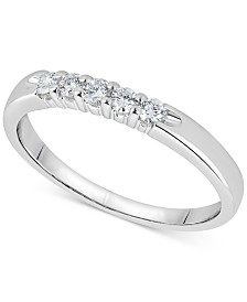 Diamond Five-Stone Ring (1/4 ct. t.w.) in 14k White Gold