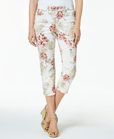 Charter Club Petite Floral-Print Capri Pants, Created for Macy's