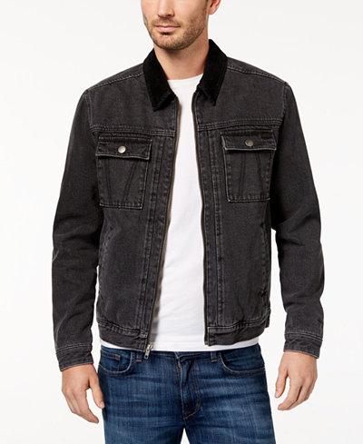 RVCA Men's Bando Black Denim Jacket - Coats & Jackets - Men - Macy's