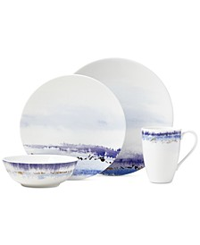 Watercolor Horizons Microwave Safe 4-Pc. Place Setting, Created for Macy's