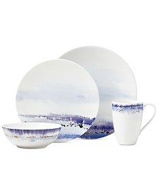 Lenox Watercolor Horizons Microwave Safe 4-Pc. Place Setting, Created for Macy's