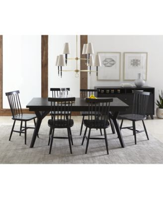 Furniture Bensen Dining Furniture, 7 Pc. Set (Expandable Dining Table U0026 6  Side Chairs), Created For Macyu0027s   Furniture   Macyu0027s