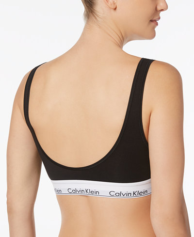 Calvin Klein Modern Cotton Scoop-Neck Logo-Band Bralette QF4393