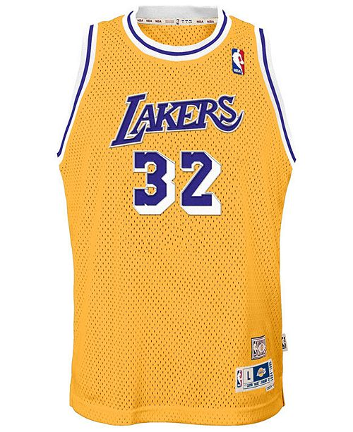 e620f07070a adidas Magic Johnson Los Angeles Lakers Retired Player Swingman Jersey