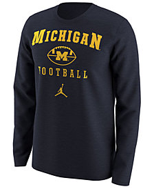 Nike Men's Michigan Wolverines Retro Long Sleeve T-Shirt