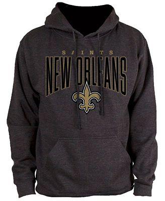 Authentic NFL Apparel Men's New Orleans Saints Defensive Line Hoodie