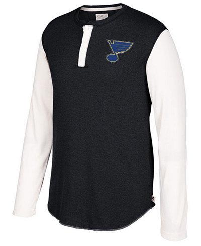 CCM Men's St. Louis Blues Long Sleeve Henley Shirt