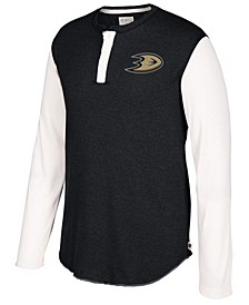 Men's Anaheim Ducks Long Sleeve Henley Shirt