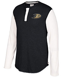 CCM Men's Anaheim Ducks Long Sleeve Henley Shirt