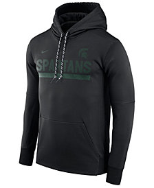 Nike Men's Michigan State Spartans Therma-Fit Sideline Hoodie