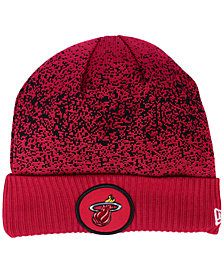 New Era Miami Heat On Court Collection Cuff Knit Hat