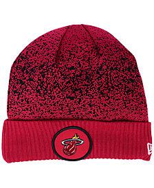 New Era Miami Heat On Court Collection Cuff Knit Hat