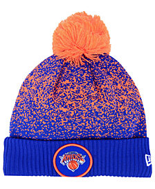 New Era New York Knicks On-Court Collection Pom Knit Hat