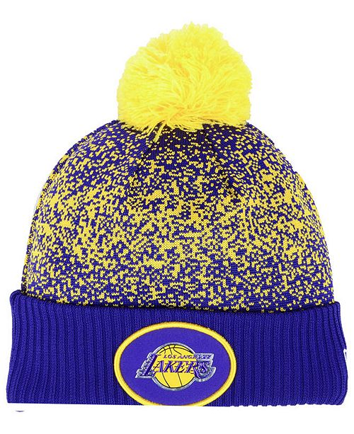b99c2191afe ... New Era Los Angeles Lakers On-Court Collection Pom Knit Hat ...