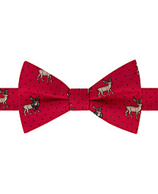 Tommy Hilfiger Men's Reindeer Conversational Pre-Tied Silk Bow Tie