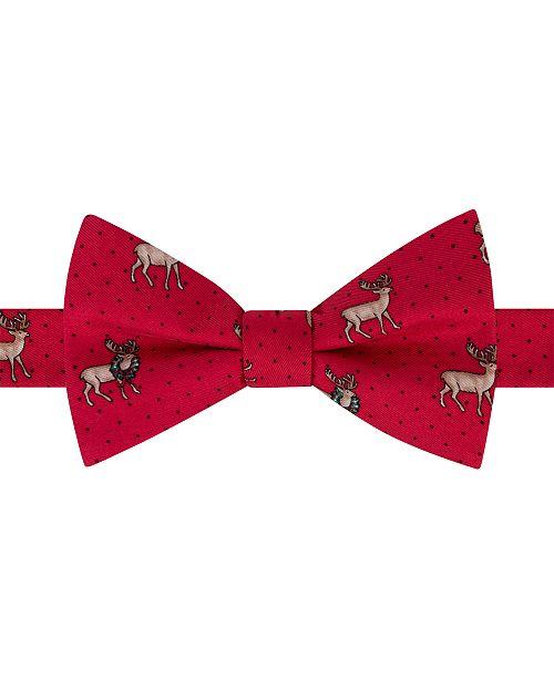Tommy Hilfiger Men's Reindeer Conversational Pre-Tied Silk Bow Tie