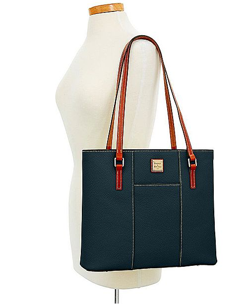 Dooney Bourke Pebble Leather Lexington Tote Handbags Accessories Macy S