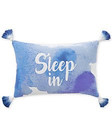"CLOSEOUT! Whim by Martha Stewart Collection Sleep In 12"" x 28"" Graphic-Print Decorative Pillow, Created for Macy's"