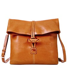 Florentine Leather Toggle Crossbody Bag