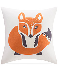 "INK+IVY Kids' Oliver Embroidered 16"" Square Decorative Pillow"