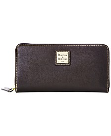 Dooney & Bourke Saffiano Leather Large Zip Around Wallet