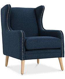 Xandar Wingback Club Chair, Quick Ship