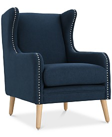 Xandar Wingback Club Chair, Quick Ship