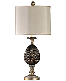 StyleCraft Traditional Pineapple Table Lamp