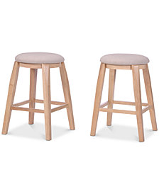 Belsey Backless Bar Stool (Set Of 2), Quick Ship