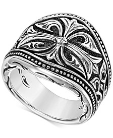Men's Engraved Ring in Sterling Silver