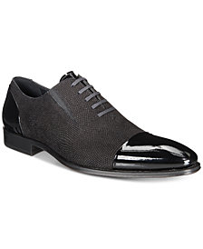 Mezlan Men's Mixed-Media Cap-Toe Oxfords, Created for Macy's