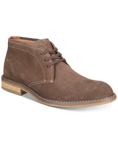 Bar III Men's Dawson Perforated Chukka Boots, Created for Macy's