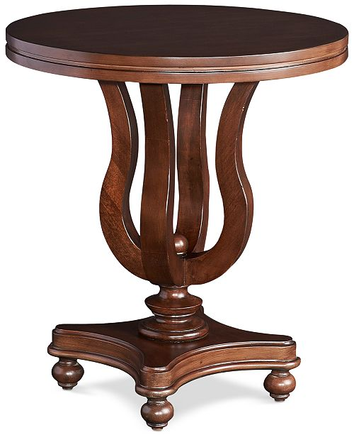 Powell Furniture Blake Round Side Table Quick Ship Reviews