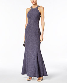 Nightway Embellished Mermaid Gown