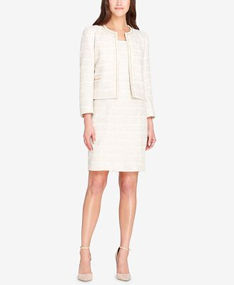 Tahari Asl Boucle Dress Suit Wear To Work Women Macy S
