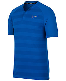 Nike Men's Momentum Zonal Cooling Striped Slim Golf Polo