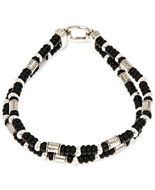 R.T. James Men's Beaded Double Strand Bracelet, Created for Macy's