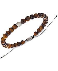 DEGS & SAL Men's (6mm) Bead Bolo Bracelet in Sterling Silver